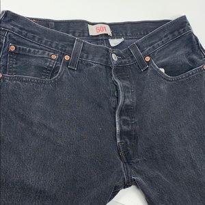 Levi's original fit 501 button fly stonewash black